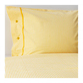 NYPONROS Duvet cover and pillowcase(s), yellow - 602.300.22
