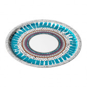 OFFENTLIG Tray, patterned multicolor - 302.362.47