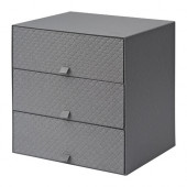 PALLRA Mini chest with 3 drawers, dark gray - 502.724.80