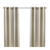 PÄRLBUSKE Curtains, 1 pair, beige - 102.323.25