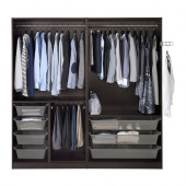 PAX Wardrobe, black-brown - 391.284.51