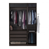 PAX Wardrobe, black-brown - 591.284.26