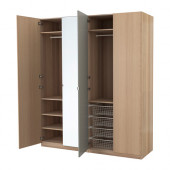 PAX Wardrobe, white stained oak effect, Nexus Vikedal - 991.114.95