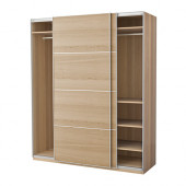 PAX Wardrobe, white stained oak effect, Ilseng white stained oak veneer - 191.193.63