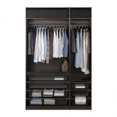 PAX Wardrobe, black-brown - 891.284.15