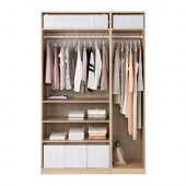 PAX Wardrobe, white stained oak effect - 091.283.77