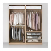 PAX Wardrobe, white stained oak effect - 491.284.36