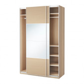 PAX Wardrobe, white stained oak effect, Auli Ilseng - 391.167.83