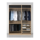 PAX Wardrobe, white stained oak effect - 591.285.63