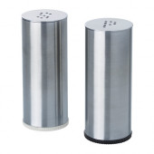 PLATS Salt & pepper shaker, set of 2, stainless steel - 802.336.75