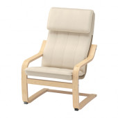POÄNG Children's armchair, birch veneer, Almås natural - 101.165.52
