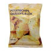 POTATISCHIPS GRÄDDFIL & LÖK Sour cream and onion potato chips - 801.296.69