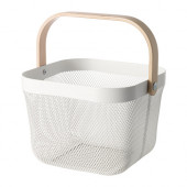 RISATORP Wire basket, white - 902.816.18