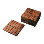 RUNNEN Floor decking, outdoor, brown stained $4.01 - 902.342.26