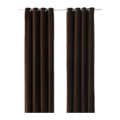 SANELA Curtains, 1 pair, dark brown brown - 302.301.89