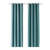 SANELA Curtains, 1 pair, light turquoise - 602.390.08