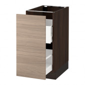 SEKTION Base cabinet for recycling, brown Maximera, Brokhult walnut - 390.405.28