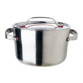 SENSUELL Pot with lid, stainless steel - 602.073.33