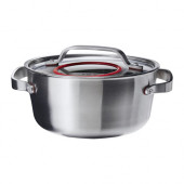 SENSUELL Pot with lid, stainless steel - 902.731.09