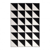 SILLERUP Rug, low pile, black/white - 302.878.21