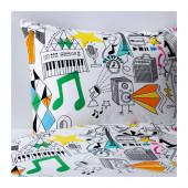 SILVERÖGA Duvet cover and pillowcase(s), white, multicolor - 602.988.80