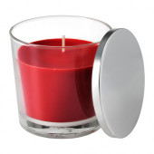 SINNLIG Scented candle in glass, Sweet berries, red - 302.759.36