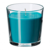 SINNLIG Scented candle in glass, Beach breeze, turquoise - 302.363.51