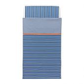 SKÄMTSAM Crib duvet cover/pillowcase, dark blue - 102.563.97