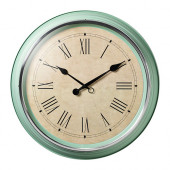 SKOVEL Wall clock, green - 502.376.51