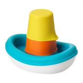 SMÅKRYP 3-piece bath toy set, boat - 202.603.94