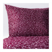 SMÖRBOLL Duvet cover and pillowcase(s), dark pink - 702.898.56
