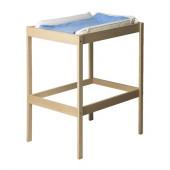 SNIGLAR Changing table, beech, white - 501.975.89