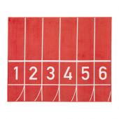 SPRINGA Rug, low pile, red - 802.725.63