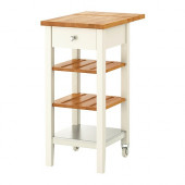 STENSTORP Kitchen cart, white, oak - 402.019.16