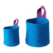 STICKAT Basket, set of 2, turquoise, lilac - 902.978.41