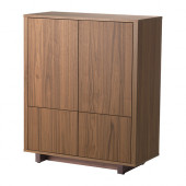 STOCKHOLM Cabinet with 2 drawers, walnut veneer - 802.397.24