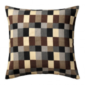 STOCKHOLM Cushion cover, check, beige - 702.812.52