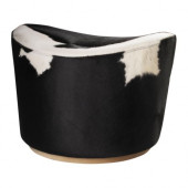 STOCKHOLM Footstool, Delikat white, black - 601.031.99