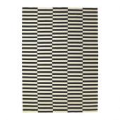 STOCKHOLM Rug, flatwoven, black stripe handmade, off-white stripe black/off-white - 901.032.54