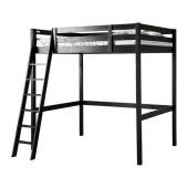 STORÅ Loft bed frame, black - 801.608.67