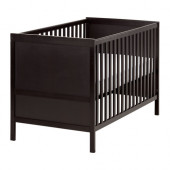 SUNDVIK Crib, black-brown - 202.485.71