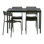 TÄRENDÖ / ADDE Table and 4 chairs, black - 790.106.90