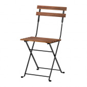 TÄRNÖ Chair, outdoor, foldable acacia black, gray-brown stained steel - 900.954.28