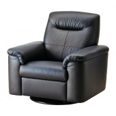 TIMSFORS Swivel recliner, Mjuk, Kimstad black - 502.729.51