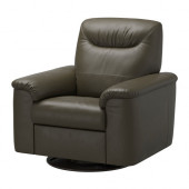 TIMSFORS Swivel recliner, Mjuk, Kimstad dark green - 902.729.54