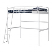 TROMSÖ Loft bed frame, white - 501.618.30