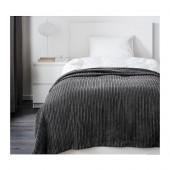 TUSENSKÖNA Bedspread, dark gray - 202.566.84