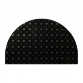TVIS Door mat, half-moon, black - 202.393.07