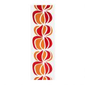 ULLASTINA Panel curtain, white/red - 302.328.81