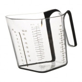 UPPENBAR Measuring cup, clear, black - 101.349.71